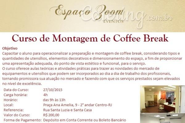 Curso de Montagem de Coffee Break